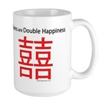 Twins are Double Happiness Large Mug