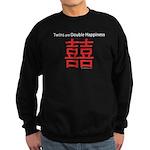Twins are Double Happiness Sweatshirt (dark)