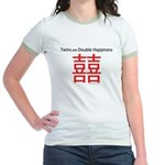 Twins are Double Happiness Jr. Ringer T-Shirt