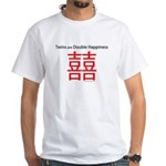 Twins are Double Happiness White T-Shirt