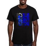 Blue Baritone Men's Fitted T-Shirt (dark)