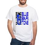 Blue Baritone White T-Shirt