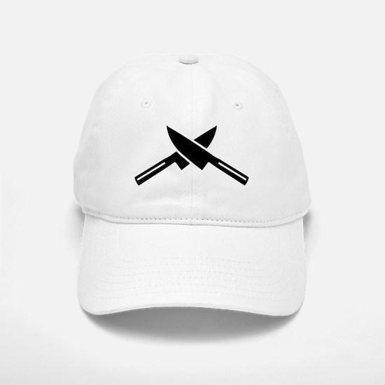 Crossed knives Baseball Baseball Cap