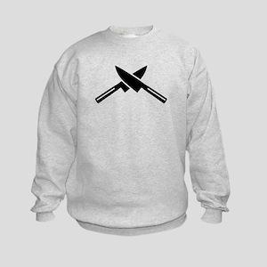 Crossed knives Kids Sweatshirt