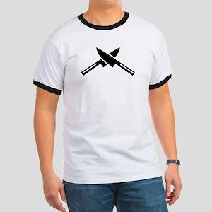 Crossed knives Ringer T