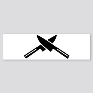 Crossed knives Sticker (Bumper)