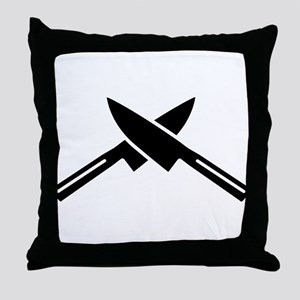Crossed knives Throw Pillow