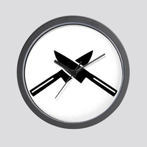 Crossed knives Wall Clock