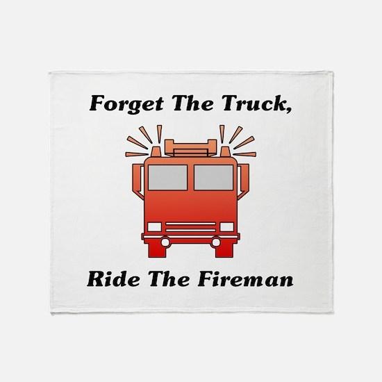 Ride The Fireman Throw Blanket