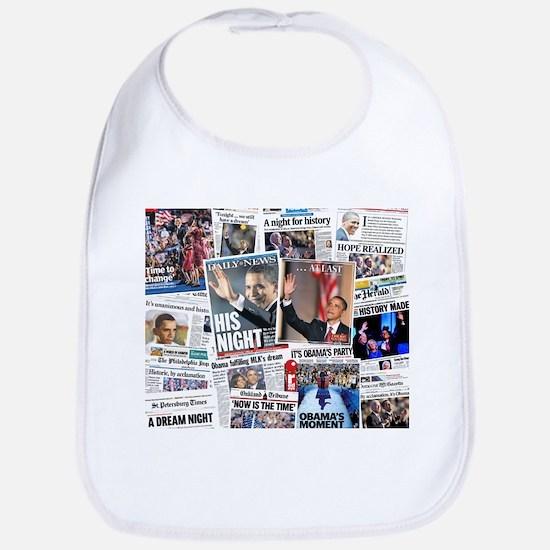 Obama Nominated: Newspaper Bib