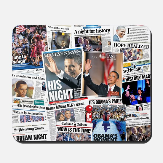 Obama Nominated: Newspaper Mousepad