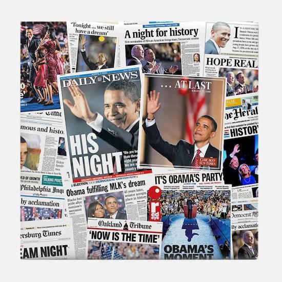 Obama Nominated: Newspaper Tile Coaster