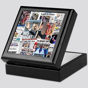Obama Nominated: Newspaper Keepsake Box