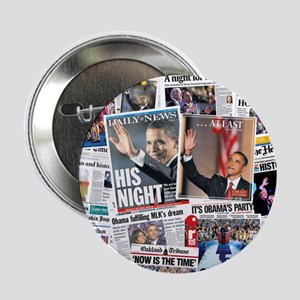 "Obama Nominated: Newspaper 2.25"" Button"