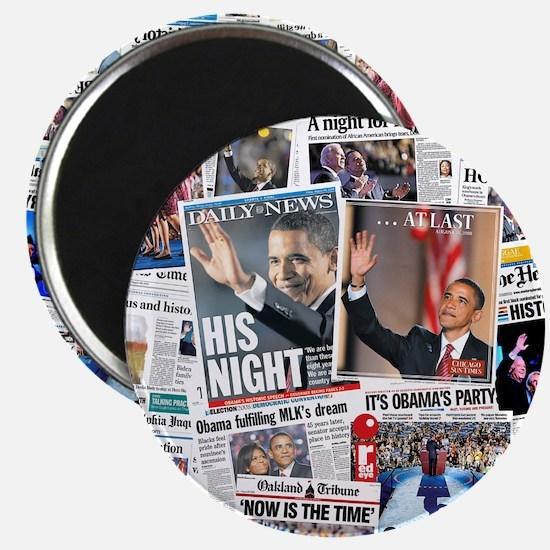 """Obama Nominated: Newspaper 2.25"""" Magnet (100 pack)"""