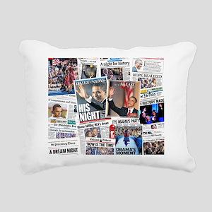 Obama Nominated Collage Rectangular Canvas Pillow