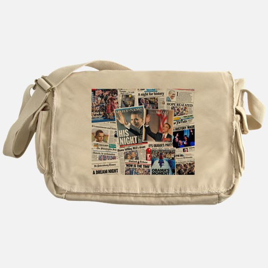 Obama Nominated Collage Messenger Bag