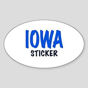 IOWA STICKER Sticker (Oval)