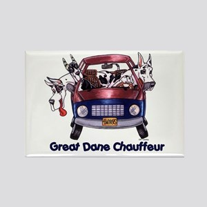 Dane Chauffeur Rectangle Magnet