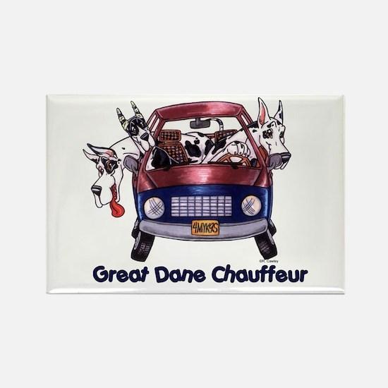 Dane Chauffeur Rectangle Magnet