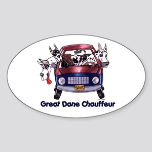 Dane Chauffeur Oval Sticker
