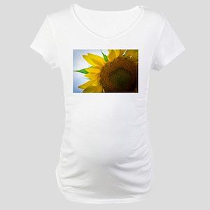 Fall Sunflower Maternity T-Shirt