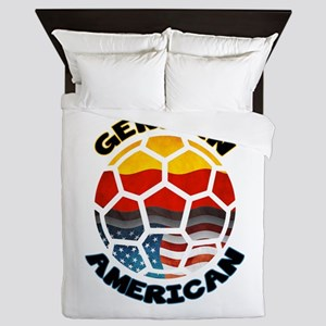 German American Football Soccer Queen Duvet