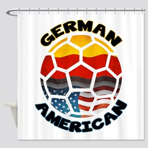 German American Football Soccer Shower Curtain