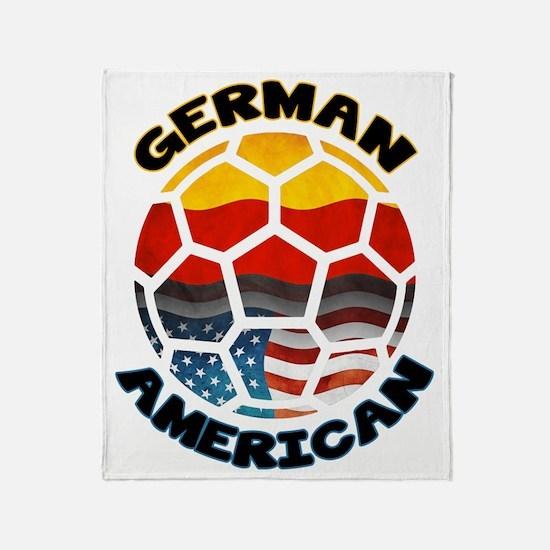 German American Football Soccer Throw Blanket