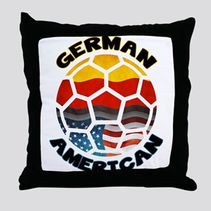German American Football Soccer Throw Pillow