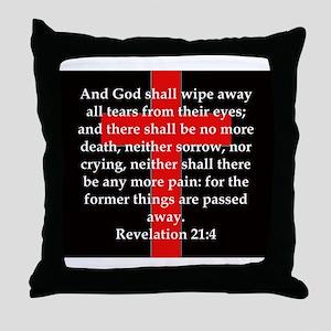 Revelation 21-4 Throw Pillow