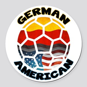 German American Football Soccer Round Car Magnet