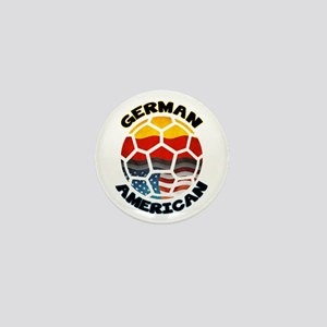 German American Football Soccer Mini Button