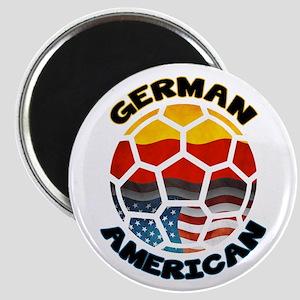German American Football Soccer Magnet