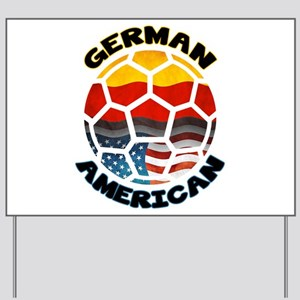 German American Football Soccer Yard Sign