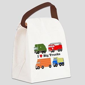 I Heart Big Trucks Canvas Lunch Bag