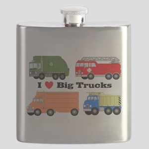 I Heart Big Trucks Flask