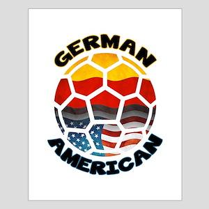 German American Football Soccer Small Poster