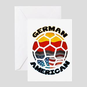 German American Football Soccer Greeting Card