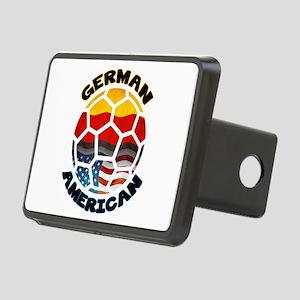 German American Football Soccer Rectangular Hitch