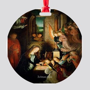 The Nativity 1495 Round Ornament