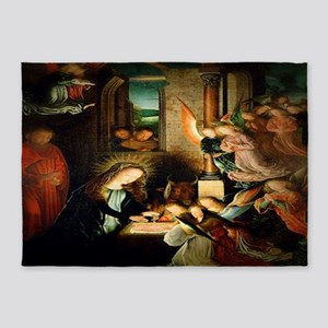 The Nativity 1495 5'x7'Area Rug