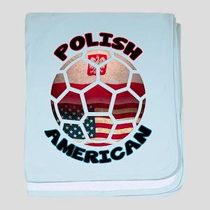 Polish American Soccer Football baby blanket