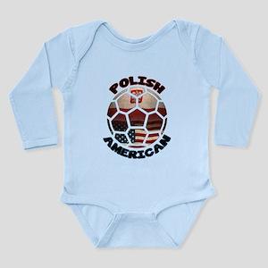Polish American Soccer Football Long Sleeve Infant