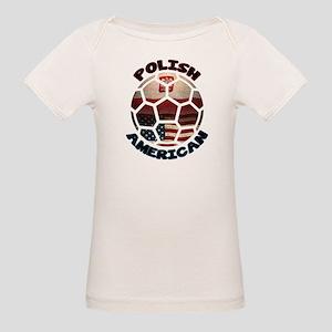Polish American Soccer Football Organic Baby T-Shi
