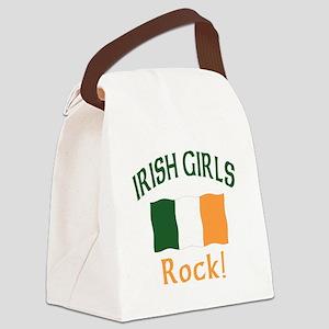 Irish girls rock (blk) T-Shirt Canvas Lunch Ba