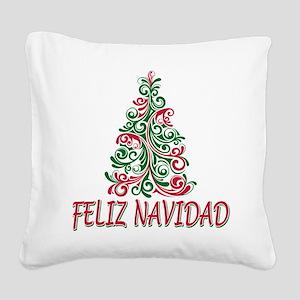 feliz navidad Square Canvas Pillow