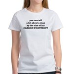 The Size Of His Carbon Footprint Women's T-Shirt
