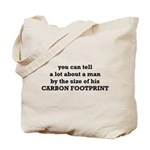 The Size Of His Carbon Footprint Tote Bag
