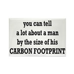 The Size Of His Carbon Footprint Rectangle Magnet